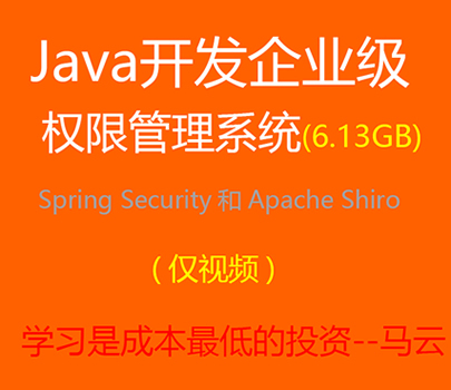 Java开发企业级权限管理系统Spring Security和Apache Shiro
