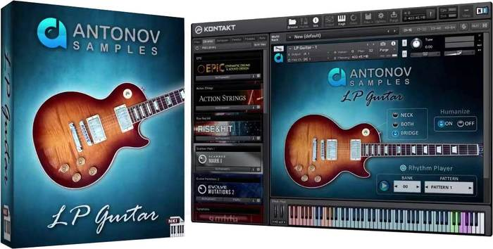 电吉他音源 Antonov Samples LP Guitar KONTAKT