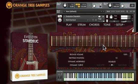 电吉他音源 Orange Tree Samples Evolution Sitardelic KONTAKT
