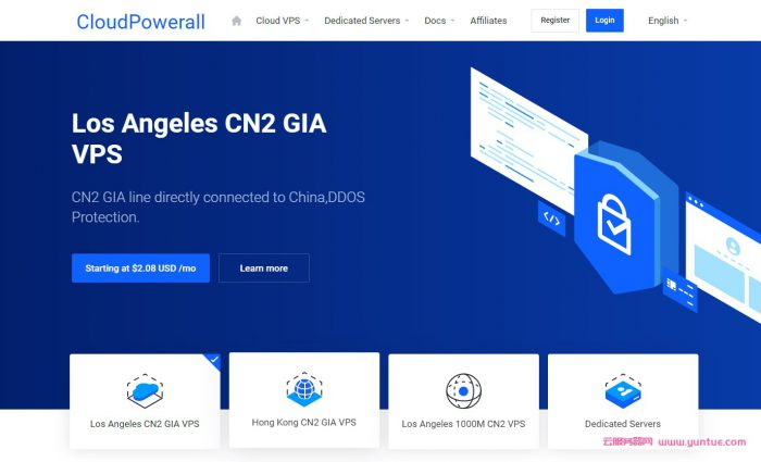 CloudPowerall:洛杉矶CN2 GIA VPS,1核AMD/1G/20G SSD/1T/50Mbps,年付$39.9